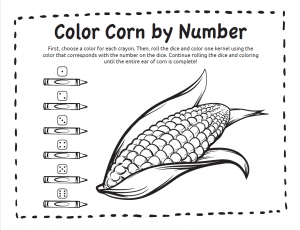 Color Corn By Number Coloring Pages Play With A Purpose Blog