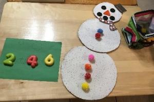preschool winter activities - snowman math