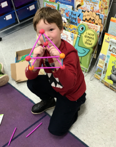 Teaching shapes with kits