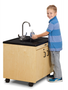 stop the spread with portable hand washing station